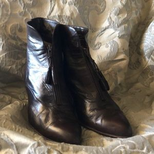 Nordstrom Italian brown leather boots sz 11